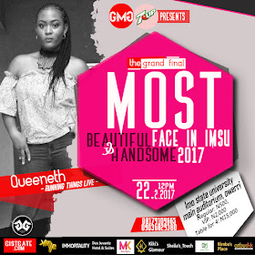 Entertainers, Industry Gurus, coporate firms set to storm Imsu for the grand finale of Most Beautiful Face In IMSU and Most Handsome Face In IMSU.