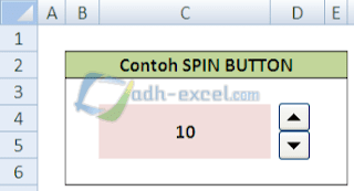 spin button excel