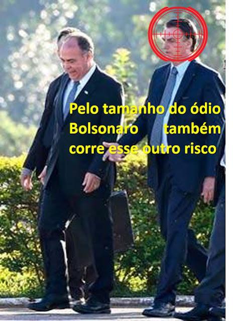 'Há um interesse muito grande em me matar', diz presidente Bolsonaro. As forças armadas vão permitir ou vai aguardar a fúria das ruas?
