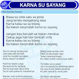 Lirik Lagu Karna Su Sayang by Near feat Dian Sorowea - Official DuniaLirikNET