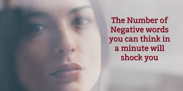 The Number of Negative words you can think in a minute will shock you. This 1-minute devotion offers biblical answers for overcoming negative thoughts.