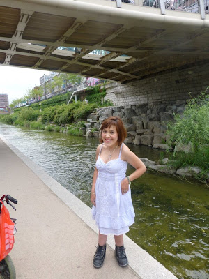 La rivière Cheonggyecheon Séoul Corée du Sud