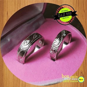 cincin emasputih paladium P724