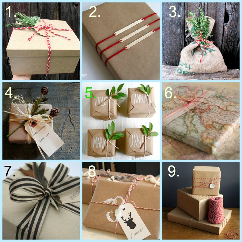 coastal gift wrap ideas