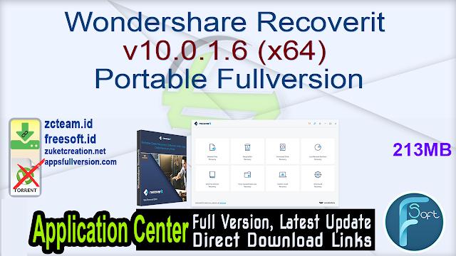 Wondershare Recoverit v10.0.1.6 (x64) Portable Fullversion