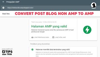 Cara Mengubah Postingan Non-AMP Menjadi Valid AMP Menggunakan AMP Converter Blogger