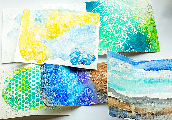 Layers of ink - Junk Journal Tutorial by Anna-Karin Evaldsson. Make pages and inserts from scrap papers.