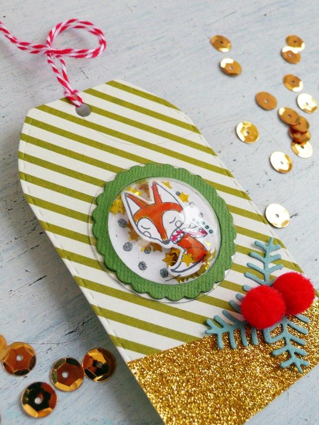 Tag di Natale con le Dimensional Domes di Sizzix