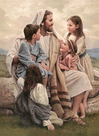 Jesus with children of God