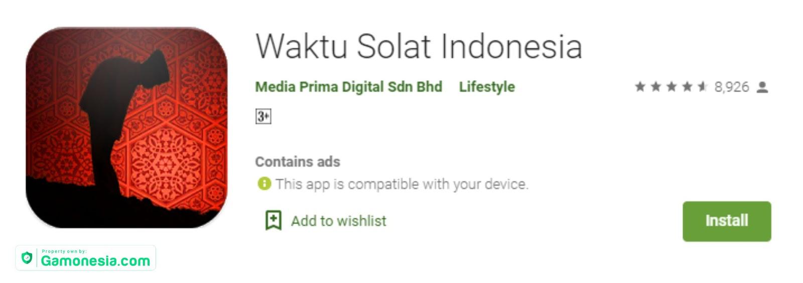 Waktu Solat Indonesia