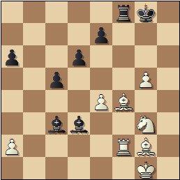 XIX Campeonato Individual de Cataluña 1950/51, partida de ajedrez Lladó vs. Bordell, posición después de 32.Tf2!
