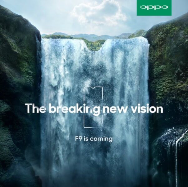 OPPO F9 Teased with a Smaller Notch!