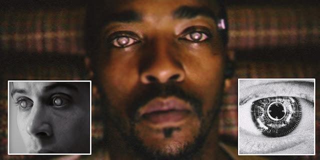 Lentes de contato de realidade aumentada presente em todas as temporadas de Black Mirror.