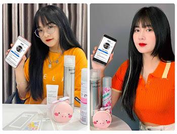 Ghép ảnh vào điện thoại hai hot TikToker Gấm Kami và Quỳnh Alee