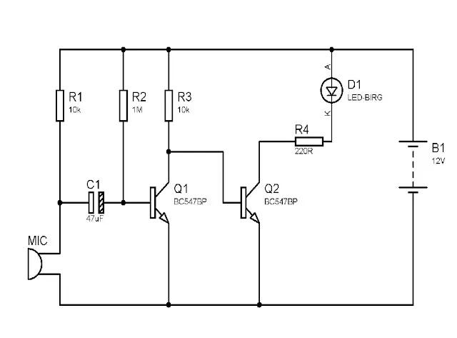 Clap-Clap on / Clap-Clap Off Switch Circuit