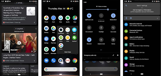 dark theme in android q