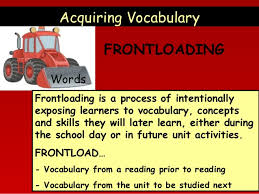 Frontloading in Vocabulary