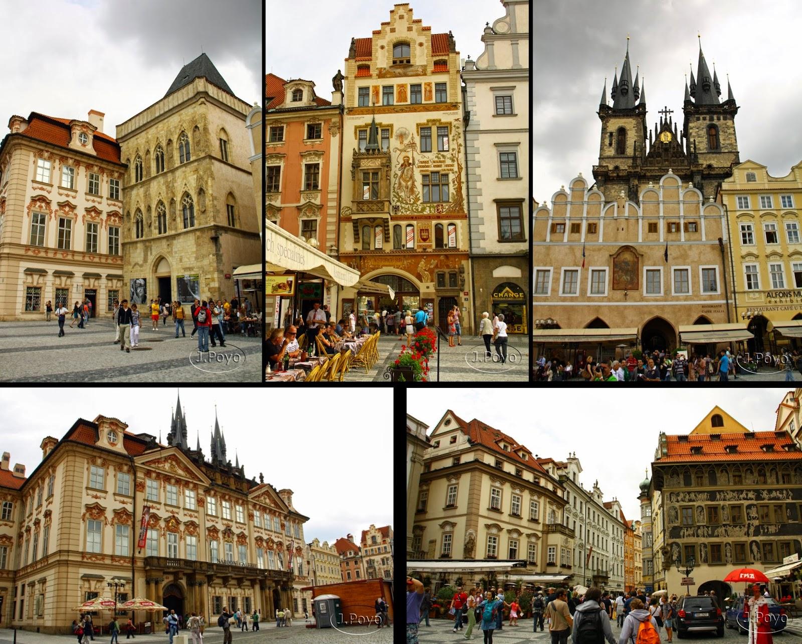 Plaza de la ciudad Vieja o Staroměstské náměstí.Praga
