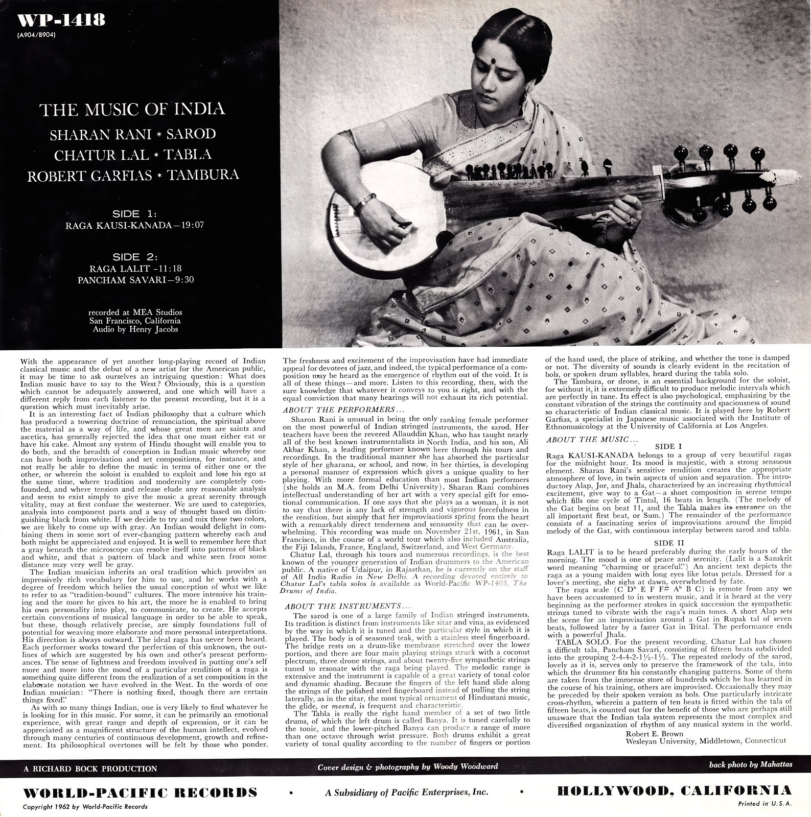 Flat, Black and Classical: Indian Classical Music on Vinyl and