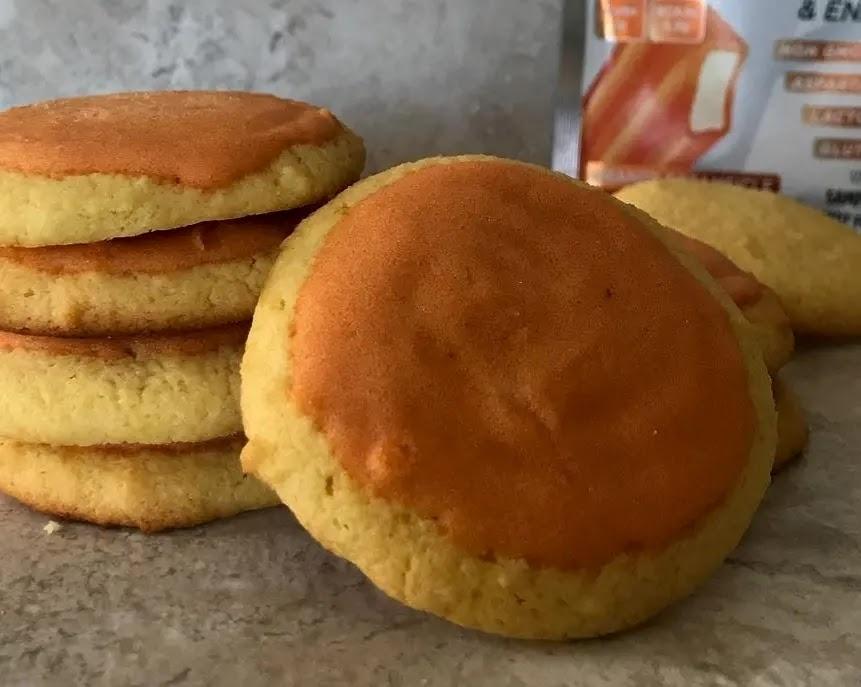 Keto Chewy Lemon Cake Sugar Cookies