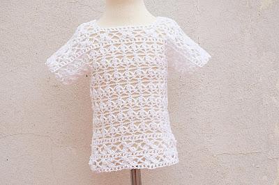 1 - Crochet Imagen Blusa blanca a crochet y ganchillo por Majovel Crochet