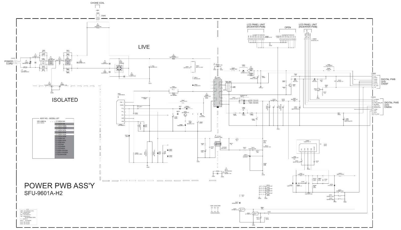 hight resolution of lt 32ex29 lt 32ex19 jvc lcd tv main power supply schematic circuit diagram jvc tv