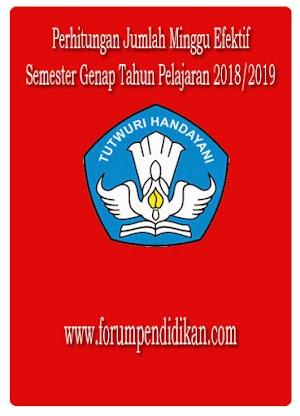 Perhitungan Minggu Efektif Semester Genap 2018/2019