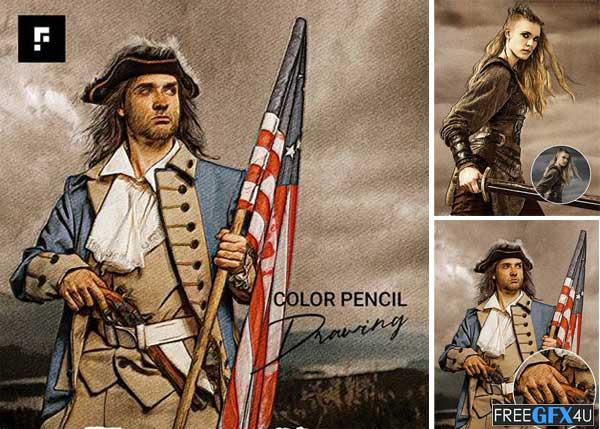 Color Pencil Drawing Photoshop Action