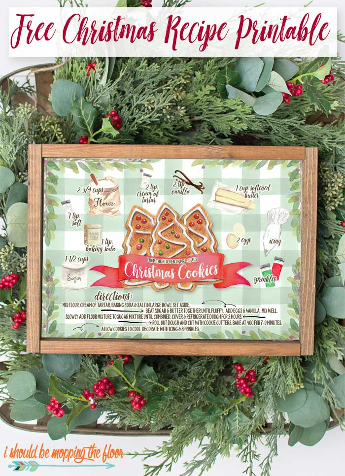 Mrs. Claus Christmas Cookies Illustrated Recipe Printable