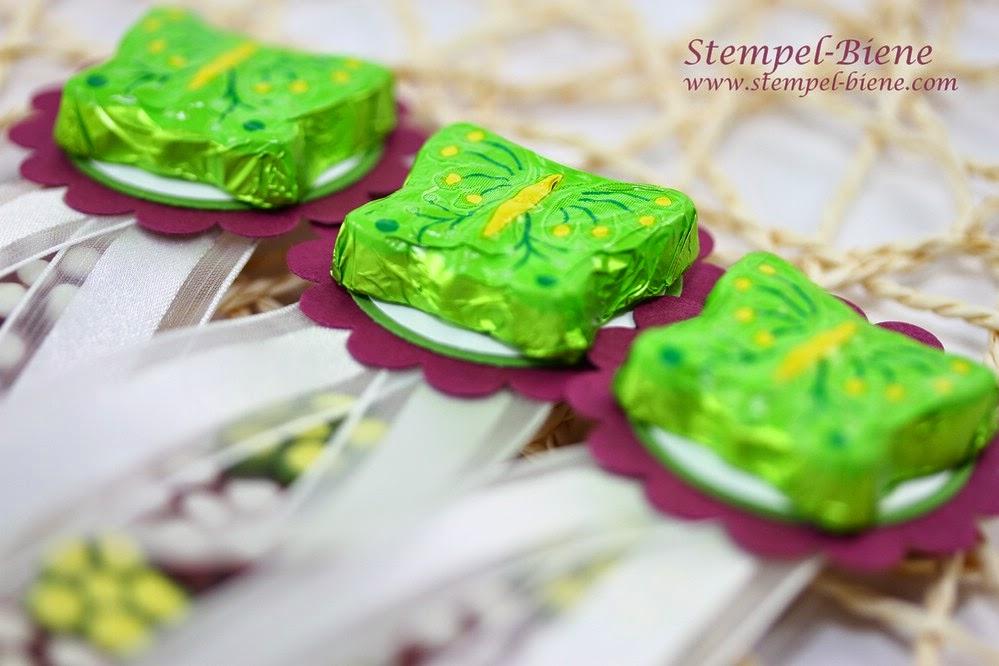 Einladung für Kindergeburtstage, Bonbons für Kinder verpacken, Kindergeschenke, Goodies basteln, Stampin' Up Zellophantüte, Stampin' Up Jahreskatalog 2014, Stampin' Up Party Recklinghausen, Stempel-Biene