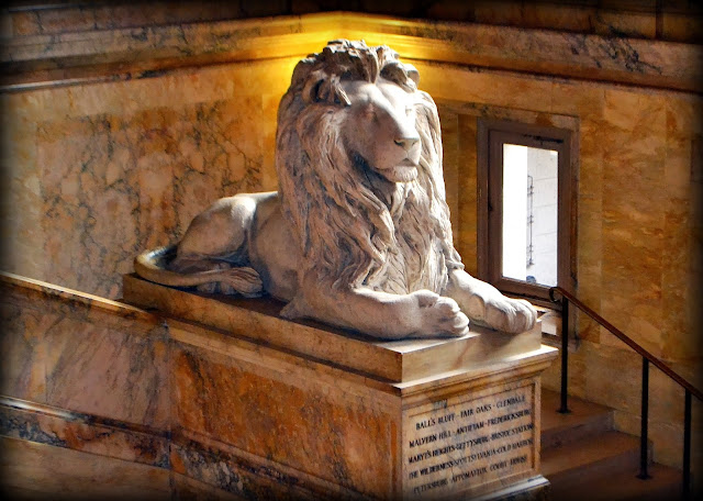 Civil War Memorial, Lion, Boston Public Library, Boston, Massachusetts, hard