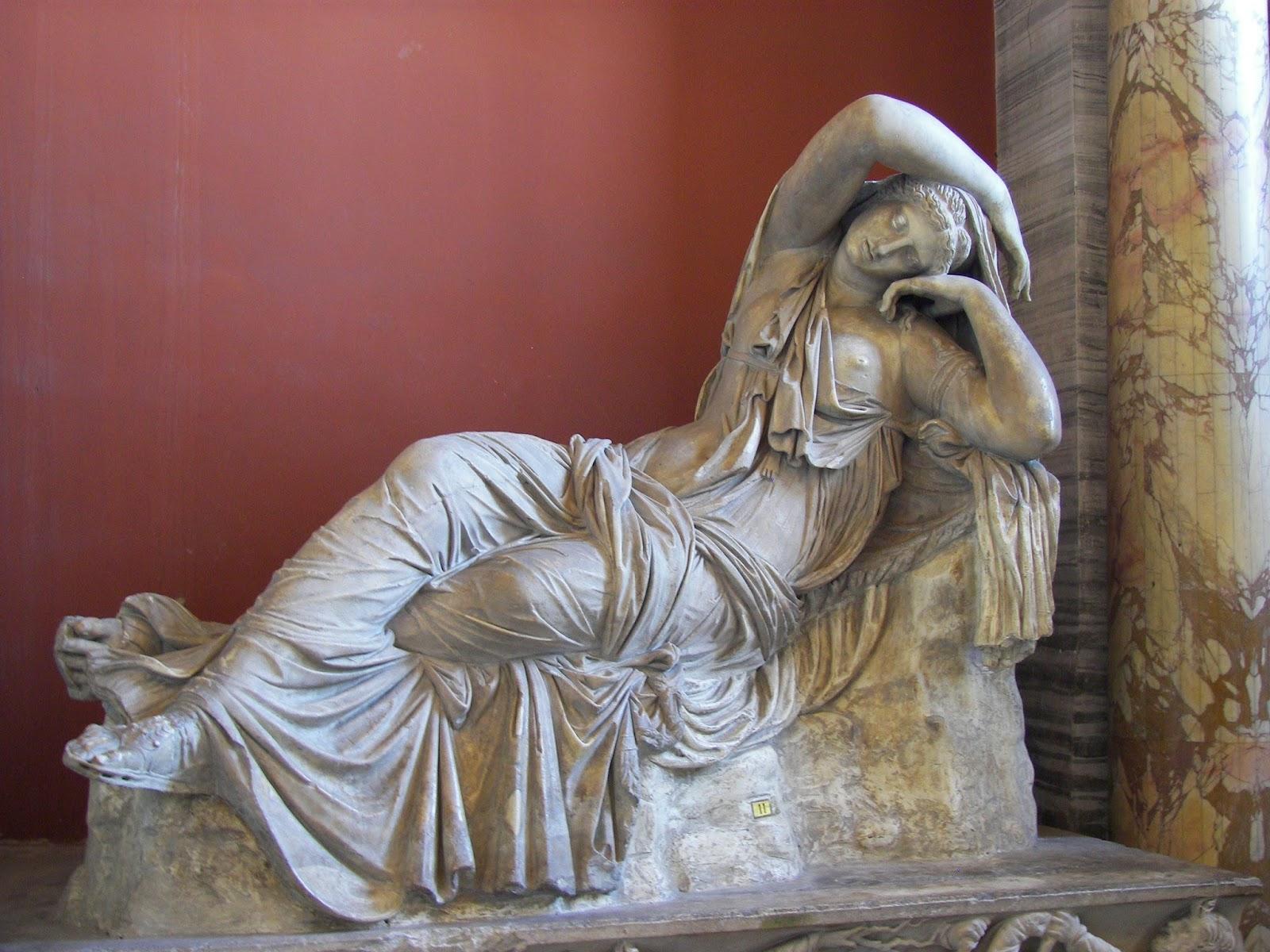 Sleeping Ariadne statue
