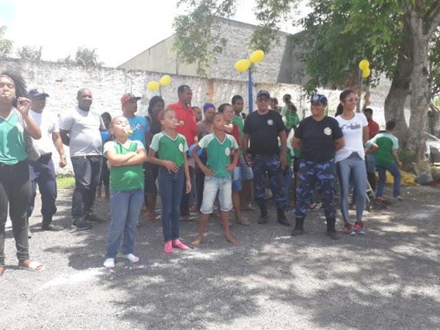 Comemorando o Dia das Crianças, Guarda Municipal realiza programação especial com alunos da Escola Marco Maciel