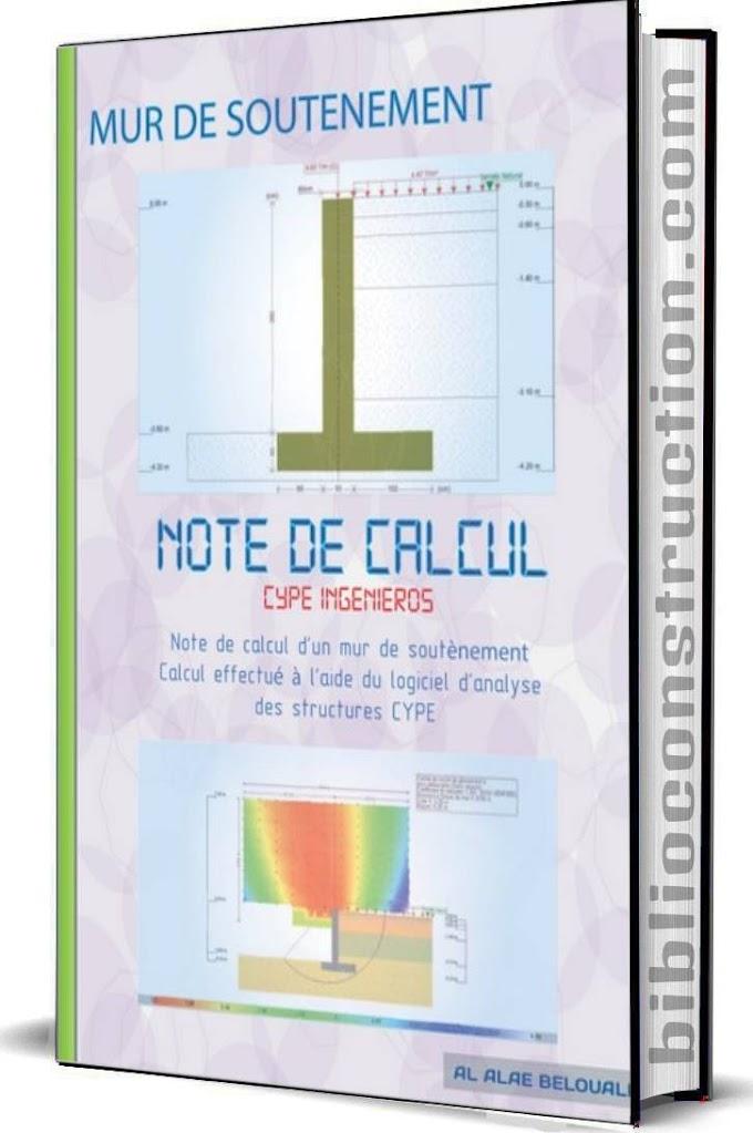 Note de calcul – Murs de soutènement pdf