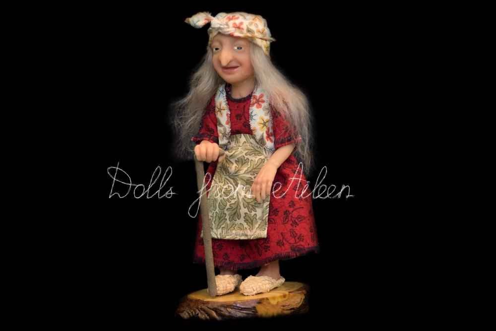 ooak miniature 'Baba Yaga' witch art doll