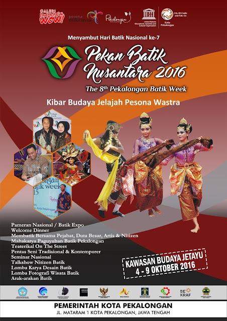 Pekalongan Batik Week 2016 atau Pekan Batik Nusantara 2016 ke-8