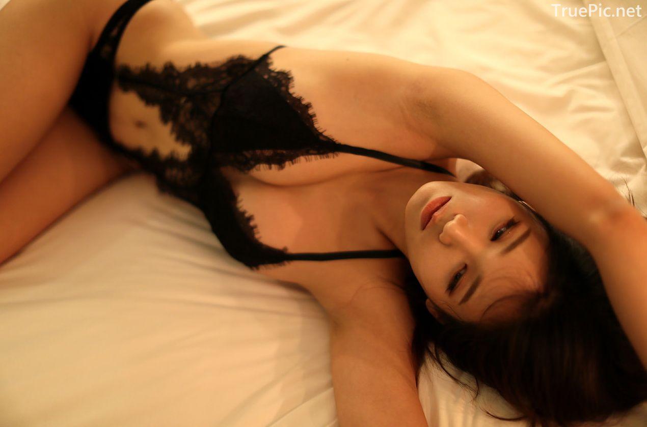 Lee Hee Eun - Bohemian lace black lingerie - Korean model and fashion - Picture 8