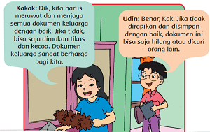 gambar Udin dan kakak ketika membersihkan dokumen keluarga www.simplenews.me