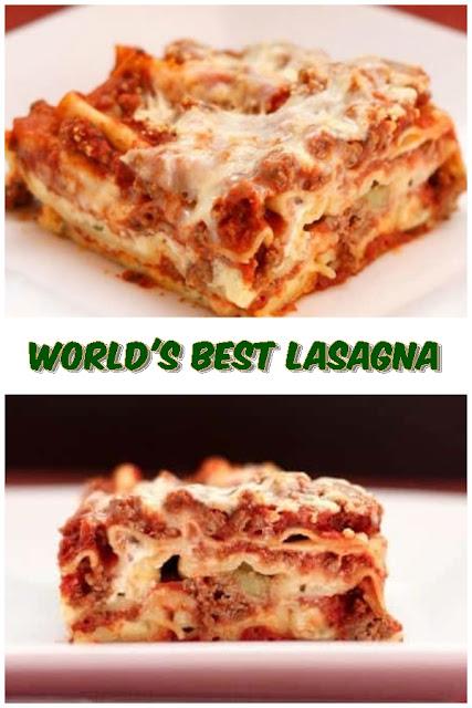 #World's #Best #Lasagna #crockpotrecipes #chickenbreastrecipes #easychickenrecipes #souprecipes