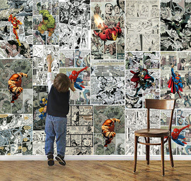 Wall Murals for Kids Rooms Wallpaper Comics Marvel