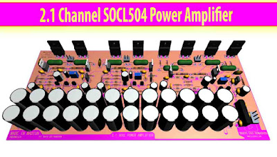 Power Amplifier SOCL 504 for stereo + subwoofer speakers