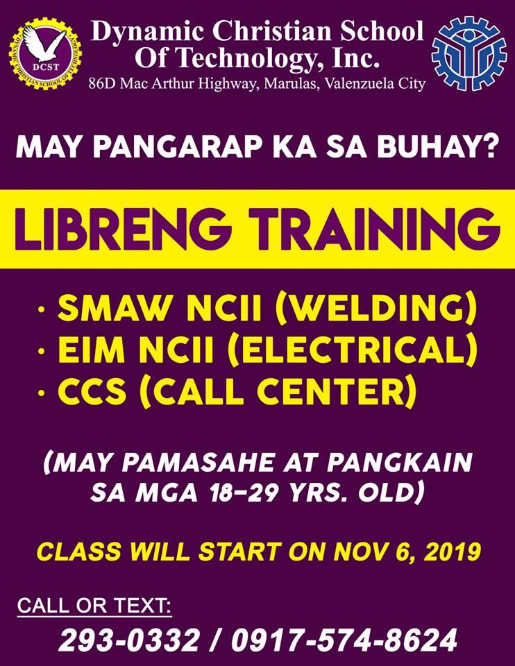 Libreng Training With Allowance | DCST