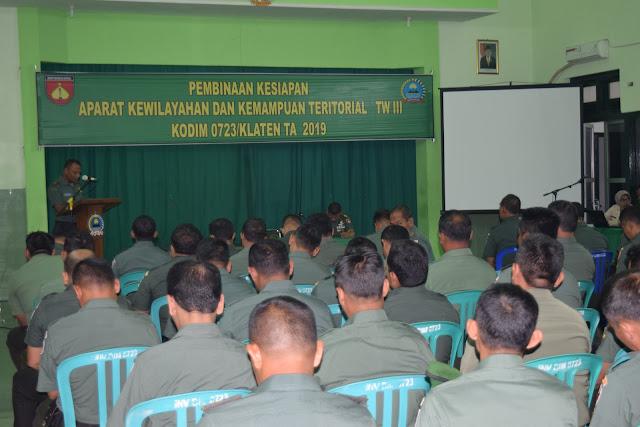 Prajurit Kodim Klaten Terima Pembinaan Kemampuan Teritorial