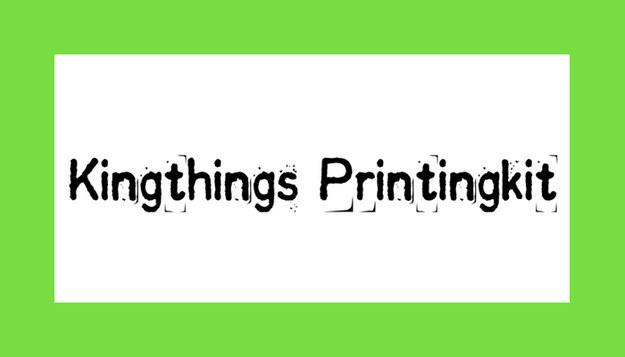 Font Kingthings Printingkit Download