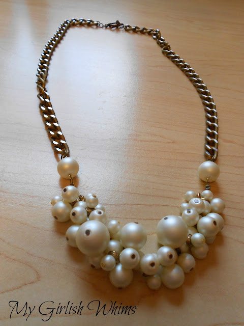 Diy Pearl Cluster Chain Necklace My Girlish Whims