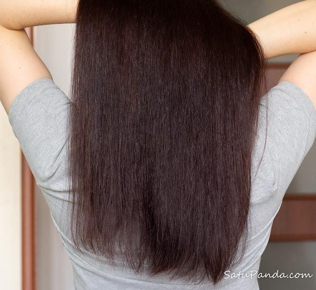 волосы после Yves Rocher Nutrition Бальзам-крем для волос Питание и Шелковистость