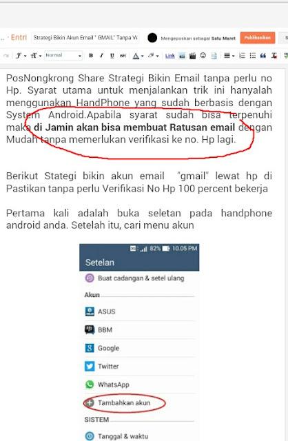 "Strategi Bikin Akun Email "" GMAIL"" Tanpa Verifikasi No Hp Dengan Android"