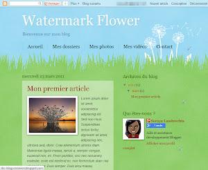Watermark Flower Theme