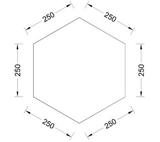 Polygon dengan sudut dan panjang sisi