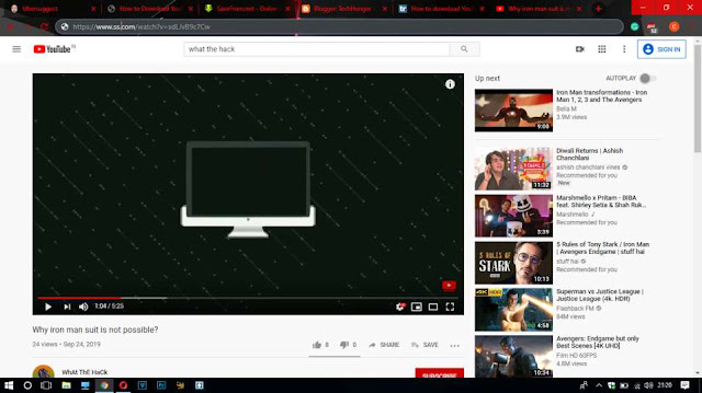 YouTube in Browser